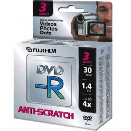 Pack 3 DVD-R camara de video Fujifilm 30 minutos 1.4GB